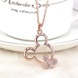 Jewelry - Mickey Mouse Rose Gold Austrian Crystal Nec